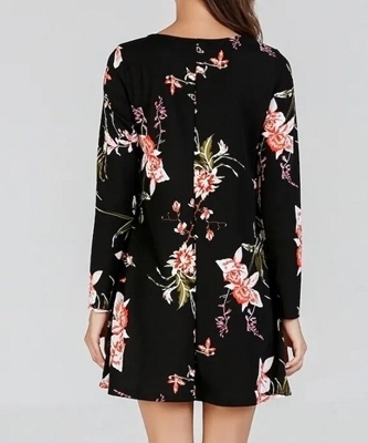 Picture of Floral Print Tunic Short Dress