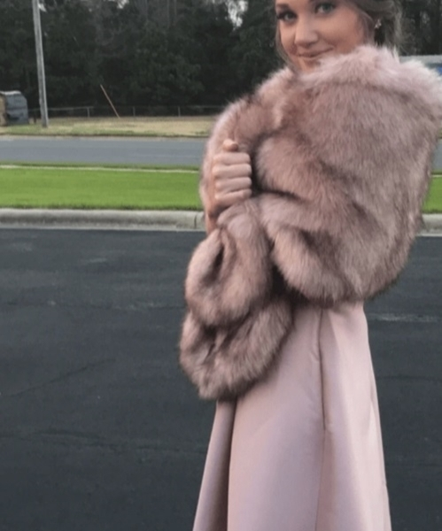 Picture of Pink Fluffy Faux Fur Shawl