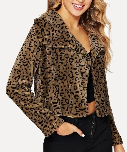 Picture of Leopard Print Oversize Teddy Coat