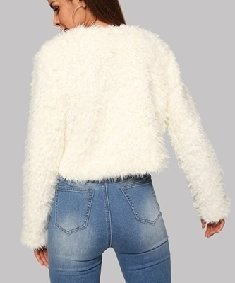 Picture of Soft Touch Solid Teddy Coat