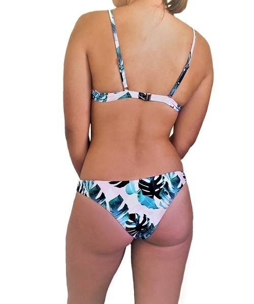 Picture of Lace insert Tropical Triangle Cheeky bikini set