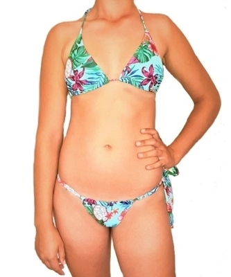 Picture of Jungle Print Tie Side Bikini Brazilian Bikini Set