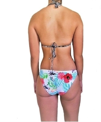 Picture of Geometric Trim Floral Tropical Bikini set