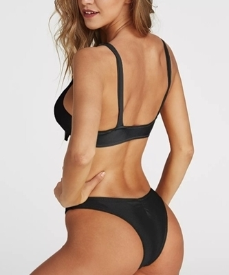 Picture of Knot front high leg Cheeky Bikini Bottom