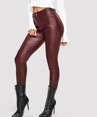 Picture of High Waist Stretch Pu Skinny Pants