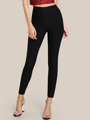 Picture of Crop Elasticized High Waist Skinny Pants