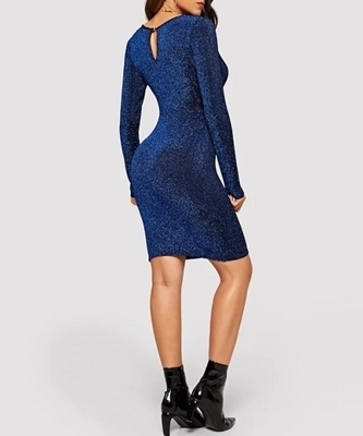 Picture of Glitter Surplice Front Bodycon Cocktail dress