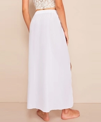 Picture of Double Split Thigh Solid Maxi Beach Skirt