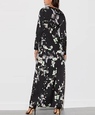 Picture of Floral Print Belted Maxi Dress