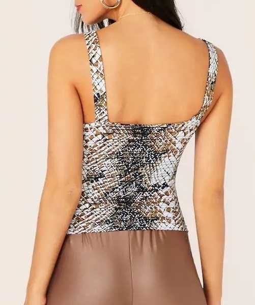 Picture of Adjustable Strap Printed Tank Top