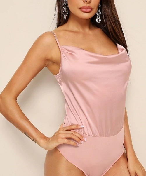 Picture of Satin Solid Cami Bodysuit