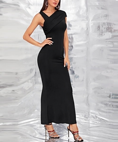 Picture of Asymmetrical Neck Maxi Mermaid Formal Dress