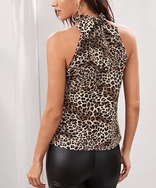 Picture of Leopard Tie Back Top