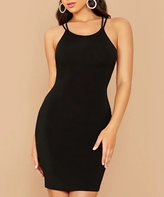 Picture of Strappy Backless Bodycon Cocktail Dress