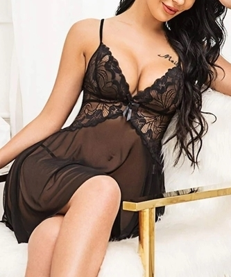 Picture of Floral Lace Sheer Babydoll