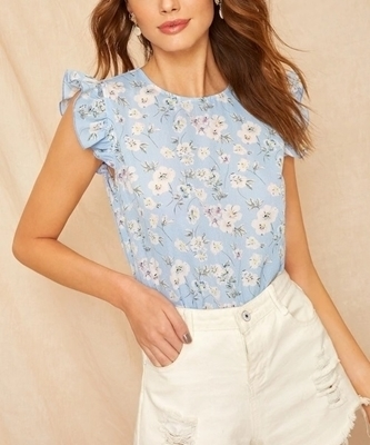 Summer Floral Tops Woman