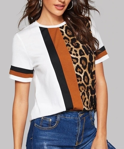 Picture of Cut-And-Sew Leopard Panel Top