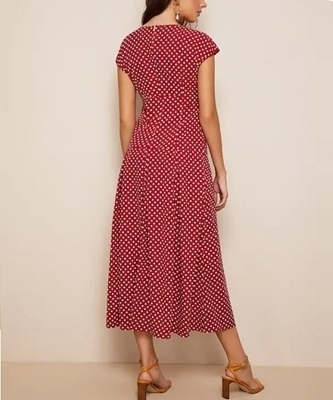 Picture of Polka-dot Print Belted Fit & Flare Dress