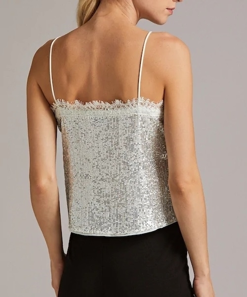 Picture of Lace Trim Sequin Cami Top