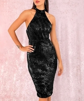 Picture of Sequin Elegant Bodycon Halter Dress
