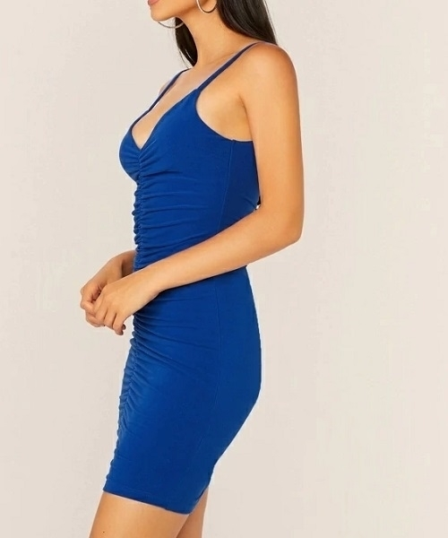 Picture of Ruched Detail Bodycon Cocktail Dress