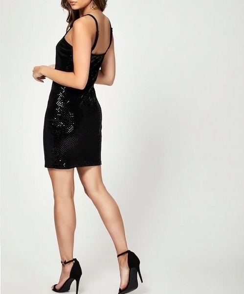 Picture of Strappy Sequin Bodycon Dress