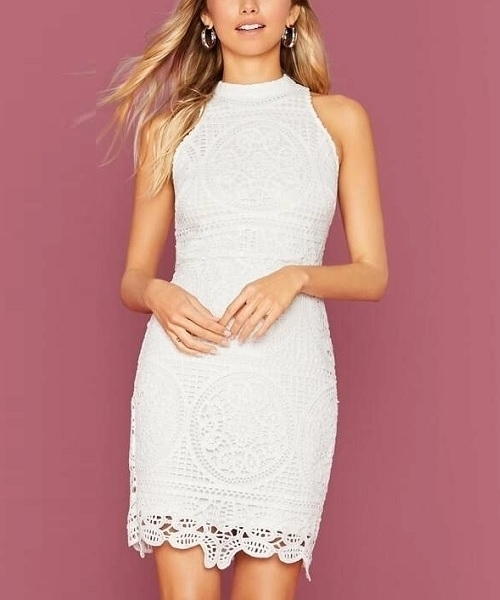 Picture of Lace Guipure Elegant Bodycon Dress