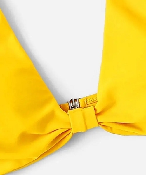 Picture of Adjustable Yellow V Neck Bikini Top