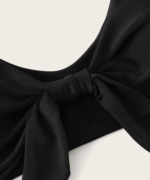 Picture of Black Knot Front Bikini Top