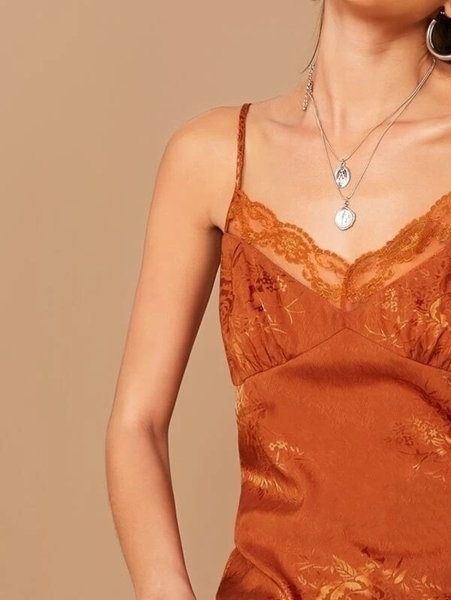 Picture of Lace Detail Jacquard Cami Top