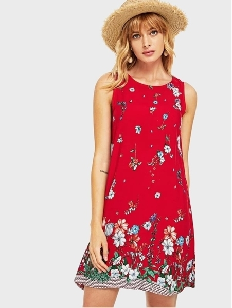 Picture of Botanical Print Shell Dress