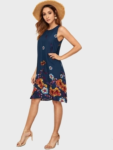 Picture of Cotton Floral Print Tunic Dress