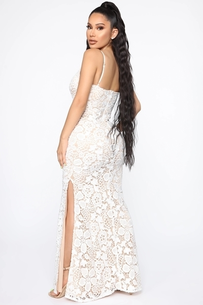 Picture of Crotchet Ivory Long Formal Occasion Dress
