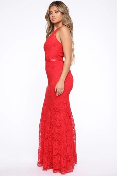 Picture of Lace High Neck Mermaid Occasion dress