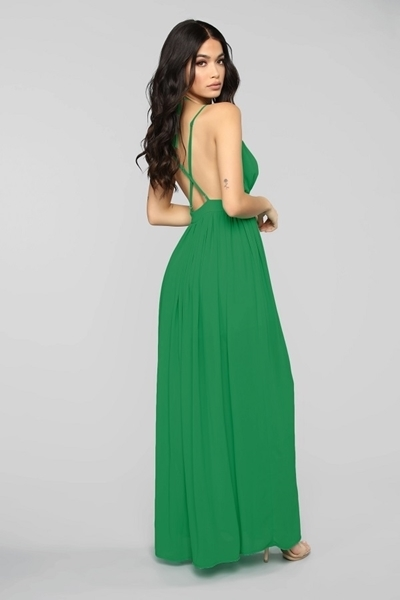 Picture of Deep V Maxi Long formal Dress