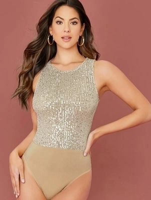 Picture of Sequin Tank Bodysuit