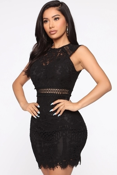 Picture of Lace Sleeveless Cocktail Dress