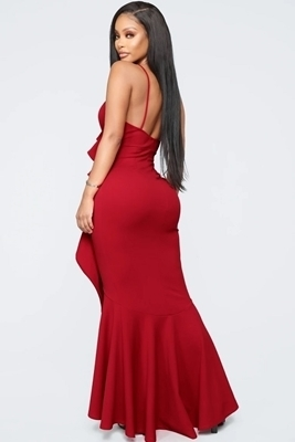 Picture of Ruffle High Low Mermaid Formal Maxi Dress
