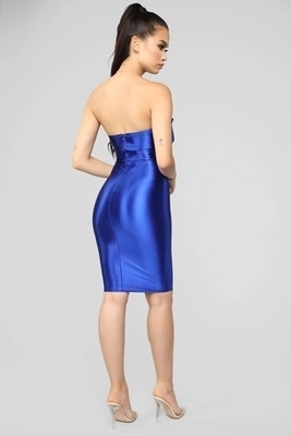 Picture of Royal Bow Strapless Cocktail Dress