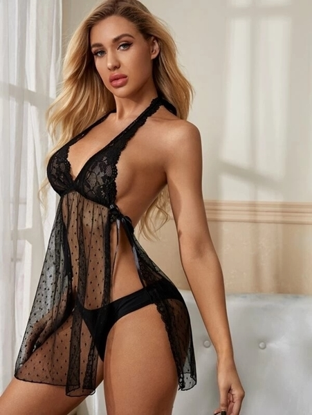 Picture of Floral Lace Split Babydoll
