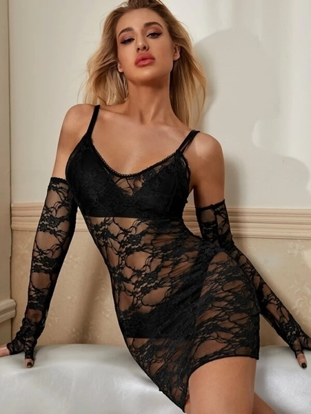 Picture of Floral Lace Slip Babydoll