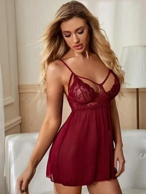 Picture of Cut Out Contrast Lace Babydoll