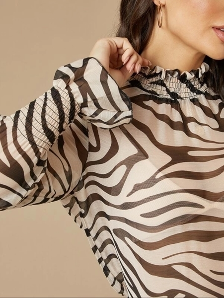 Women Blouses | Animal Print Tops Women