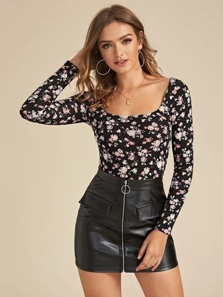 Women Clothing | Floral Long Sleeve Tops