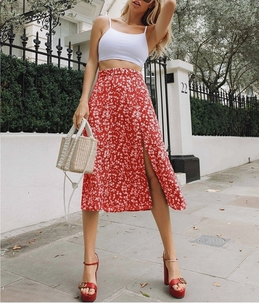 Floral Skirts For Women | Summer floral skirts Woman