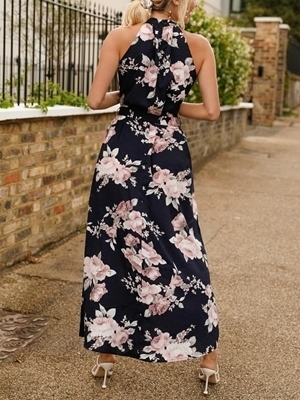 Floral Long Casual Dresses Woman | Maxi Dresses For Women