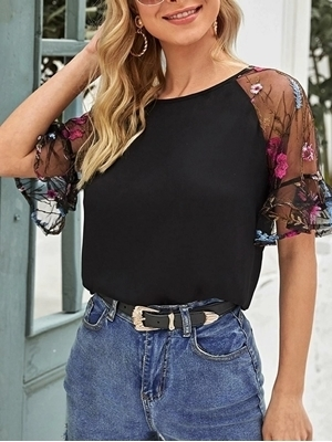 Woman clothing   Floral Tops Women