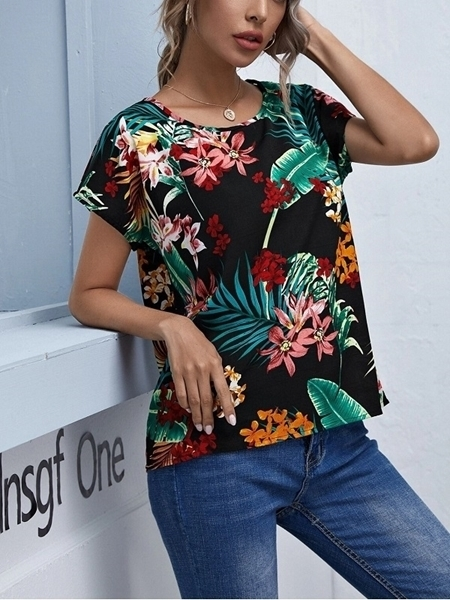 Woman clothing Online | Printed Summer Blouses Tops Women