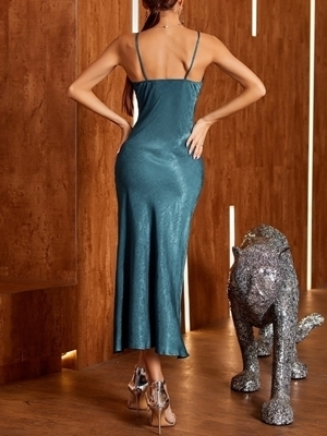 Cocktail Dresses | Satin Cocktail Long Dresses Woman