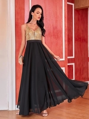 Sequin Chiffon maxi Occasion Dresses | Occasion Long Formal Dresses Woman